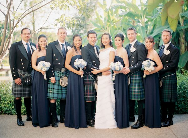 Celtic wedding - traditional Scottish and Thai multicultural wedding