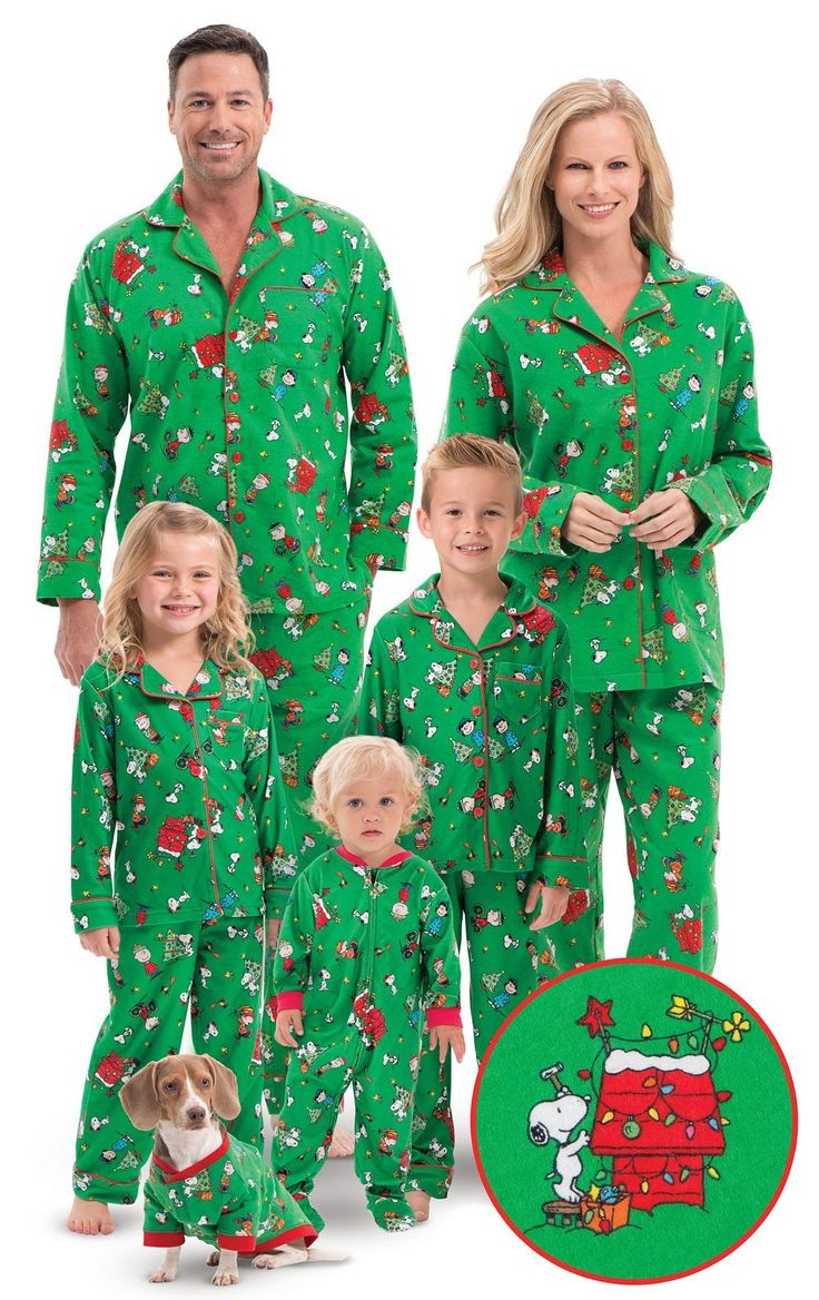 Charlie Brown Christmas Matching Family Pajamas in 2020