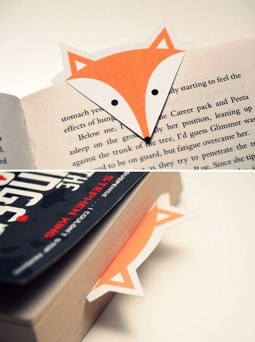 Adorable fox bookmark