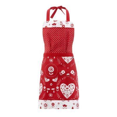 Red birds and hearts apron at debenhams.com
