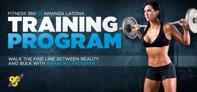 Amanda Latona's Training Workout Split- will have to incorporate chest.