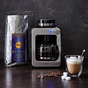 Platzsparwunder: Kompakte Filter-Kaffeemaschine mit integriertem Mahlwerk