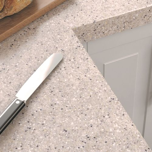 Getacore (solid surface) Miracle Sand Worktop Upstand  Available from: http://rearo.com/kitchen/getacore/getacore-solid-surface-miracle-sand-worktop-upstand-21592/
