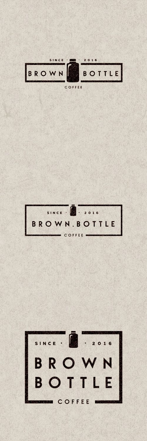 Logo Brown Bottle Coffe by Mr.Kautzmann #brand #logo #design #mrkautzmann