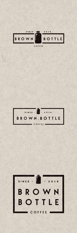 Logo Brown Bottle Coffe by Mr.Kautzmann #brand #logo #design #mrkautzmann
