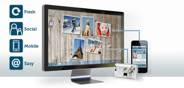 App turns desktop wallpaper into a changing photo collage