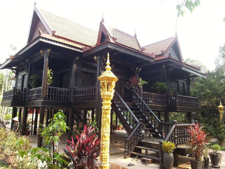 189 best cambodian khmer wooden house images on pinterest for Architecture khmer