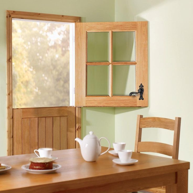 Cottage Stable 4L External Oak Door with Clear Bevelled Double Glazing