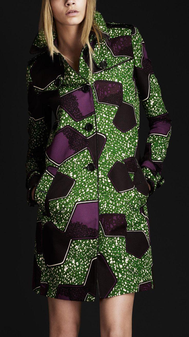 Burberry Prorsum women boomerang print trench coat