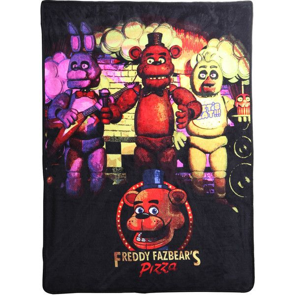 five nights at fleece throw hot topic 15 liked on polyvore featuring