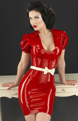 latex, what female wrestlers wear when they need to make weight.