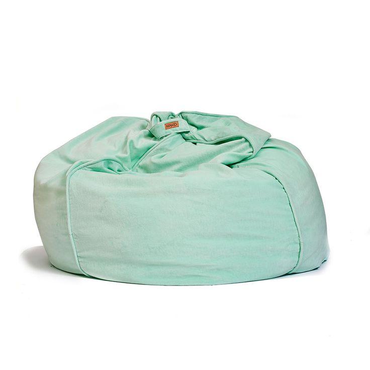Kip & Co   AW15 Spearmint Velvet Beanbag