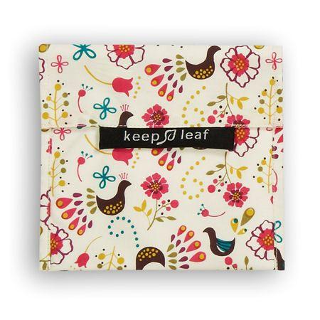 Ξεχάστε πλαστικές σακούλες και μεμβράνη μίας χρήσης στο κολατσιό σας! Ιδανικό για σάντουιτς, σνακ, καθαρίζεται εύκολα. Σχέδιο με πουλιά, 18 x 16,5 εκ.