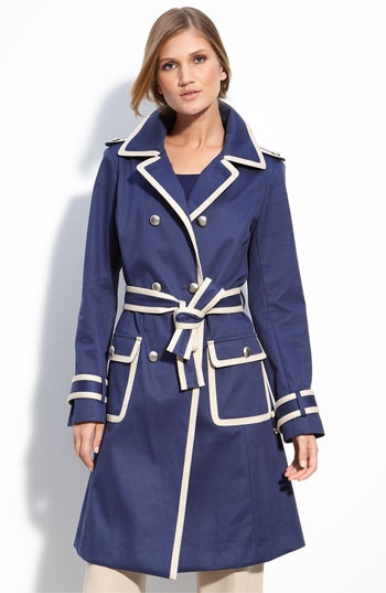 St. John Collection: John Collection, Collection Belts, St. John, Beautiful Trench, Belts Trench, John Belts, Colors Combinations, Trench Coats, Blue Trench