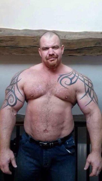 man bondage bald Fat