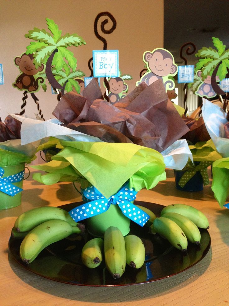 Baby Monkey Shower Theme Bunch Of Balloons Baby Shower Baby Shower Monkey Theme Ideas 736x981