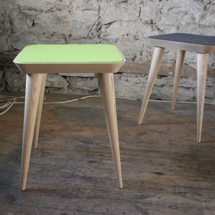 Felt Stools made from local Ash by Barnby and Day.