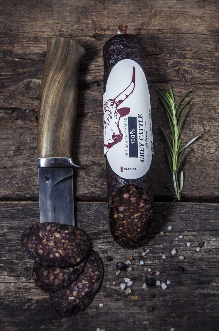 KOSHER STYLE 100% GREY CATTLE PAPRIKA SALAMI     In this salami you can taste the full bodied flavor of Hungarian Grey Cattle. We just add spices, and there are no preservatives or additives.