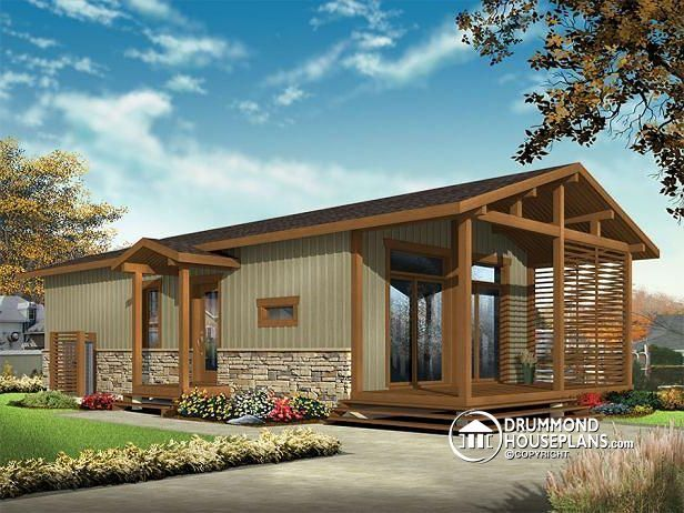 W1907 Modern Rustic 700 Tiny Small House Plan