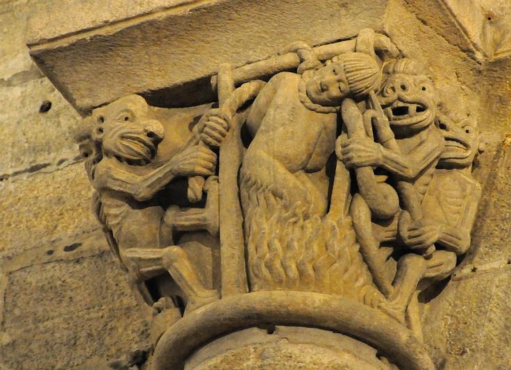 Capitel. Catedral de Santiago de Compostela (Spain).