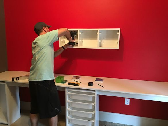 LEGO Room and LEGO Desk - A step by step on how to design a LEGO room in your house with a LEGO desk. LEGO storage.