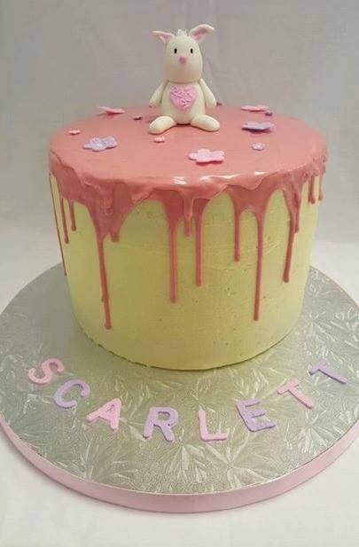 Super Cute Bunny Drop Cake decorated by Coast Cakes Ltd