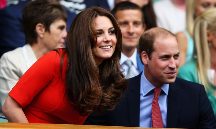 July 8, 2015 - Kate Middleton delightfully flaunts Wimbledon dress code with stunning red dress.