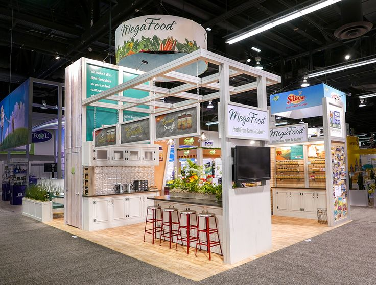 Exhibition Booth Design D : Custom tradeshow design and fabrication for mega foods