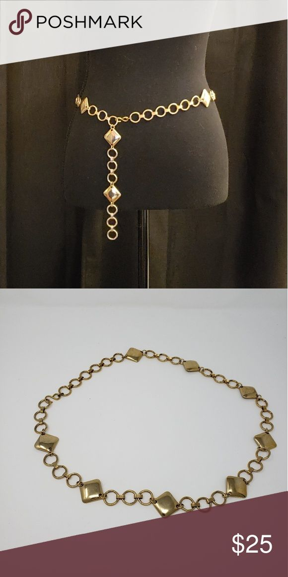 Vintage gold metal diamond and ring belt disco Don't remember when I got thi…