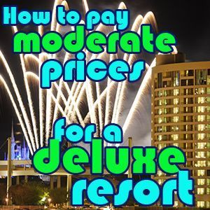 Definitely my favorite way to save money on Disney World trips: How to stay in a deluxe hotel for moderate prices
