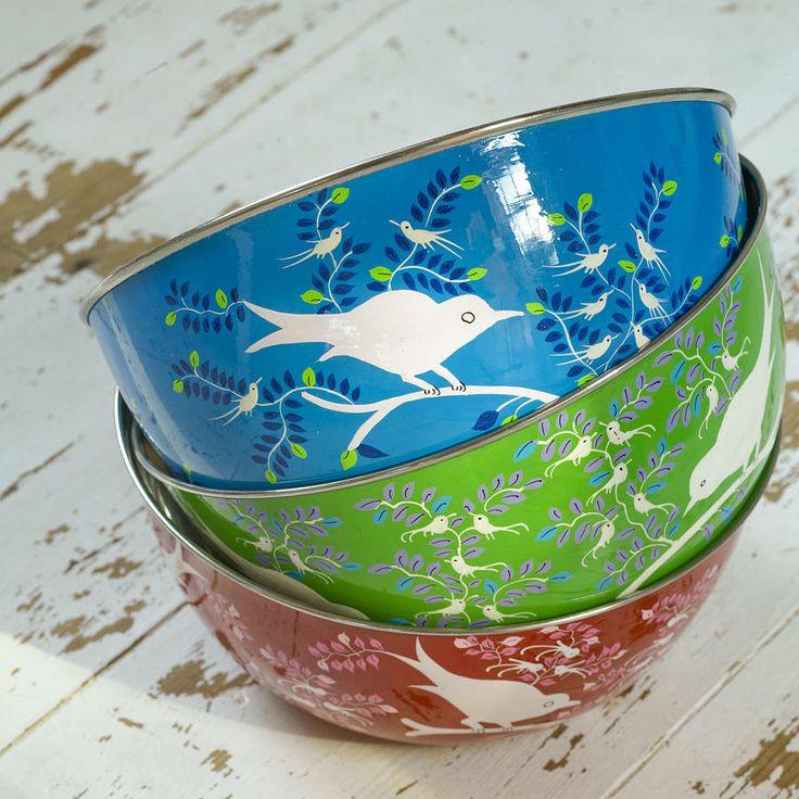 large enamel bowl by nkuku | notonthehighstreet.com