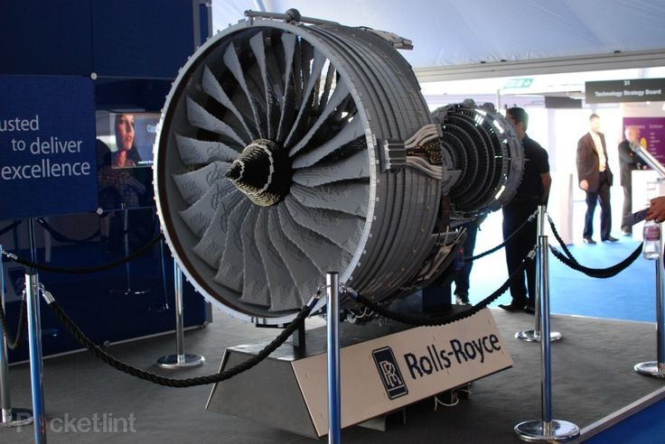 This is an almost exact model of the Rolls-Royce Trent 1000 jet engine - the same engine that powers the Boeing 787 Dreamliner.