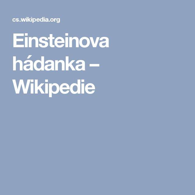 Einsteinova hádanka – Wikipedie