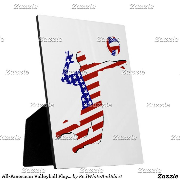 SOLD! All-American Volleyball Player Plaque  by #RedWhiteAndBlue1 #sports4you #Gravityx9