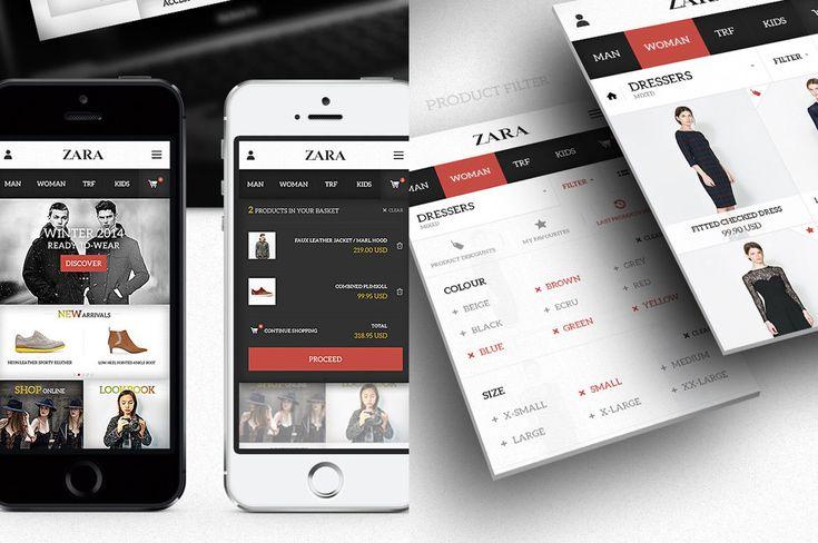 zara-app redsgned