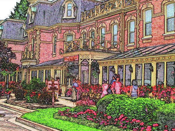 Niagara On The Lake - Prince Of Wales Hotel Art Print by Leslie Montgomery.
