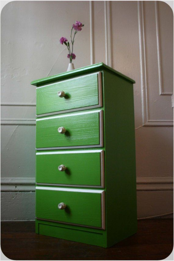 Leafy Green Nightstand on hold by OhClementine on Etsy