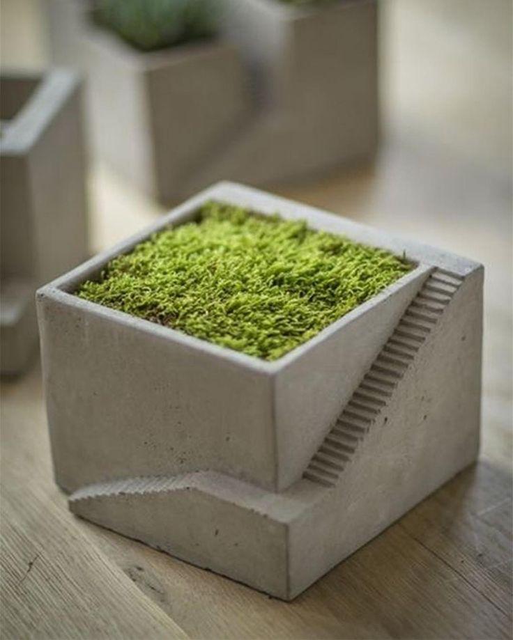 Cement Architectural Plant Cube Planter I by Vagabond Vintage. #p_roduct