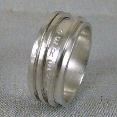 Serenity Prayer Ring In Sterling Silver Spinner Ring