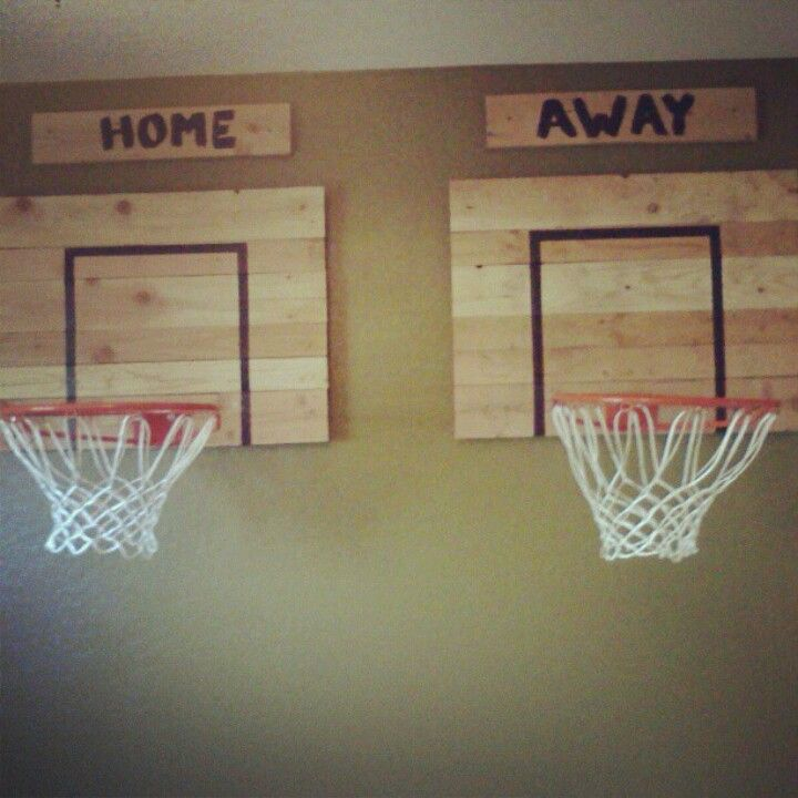 Basketball hoops for the boys room