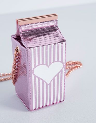 Milk carton bag from Bershka #fashion #cute