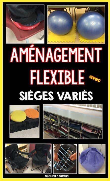 Flexible seating in the classroom - Aménagement flexible en classe - Voici une façon simple de garnir sa classe sans trop puiser dans sa poche $$.