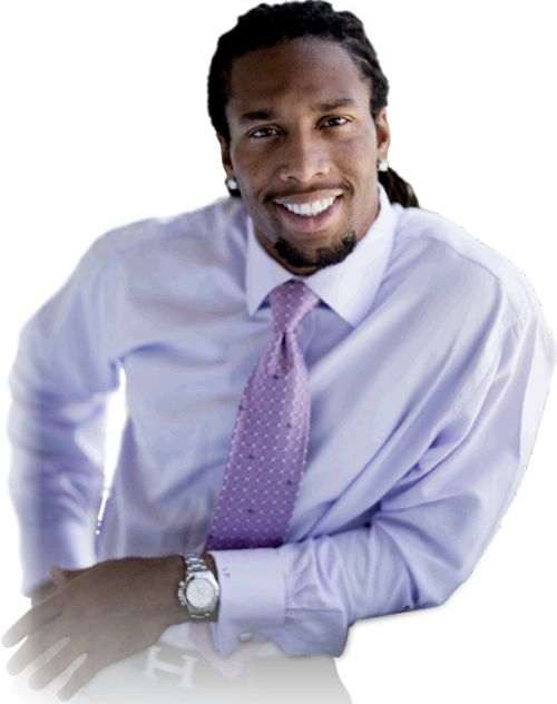 Larry Fitzgerald. LARRY FITZGERALD VOTED NFL'S BEST DRESSED PLAYER!! Well Mr. LARRY sexyness.... mm mmmmm mmmmh!