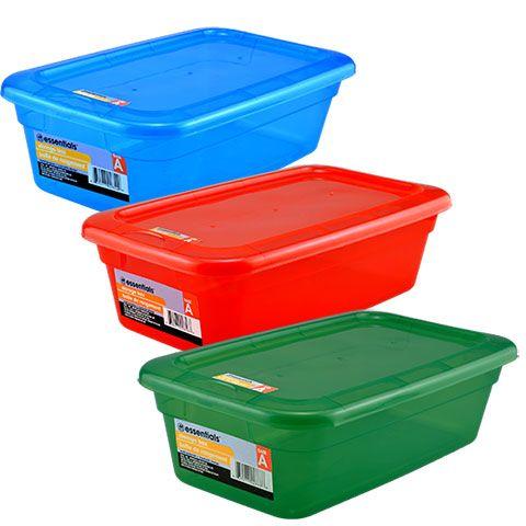 Essentials Translucent Plastic Storage Containers
