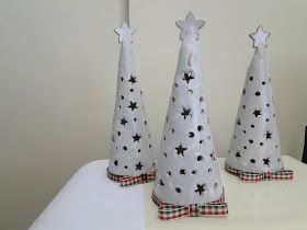 Luminary trees. Create a cone template. Use the little tealight battery operated candles - kids loved it!