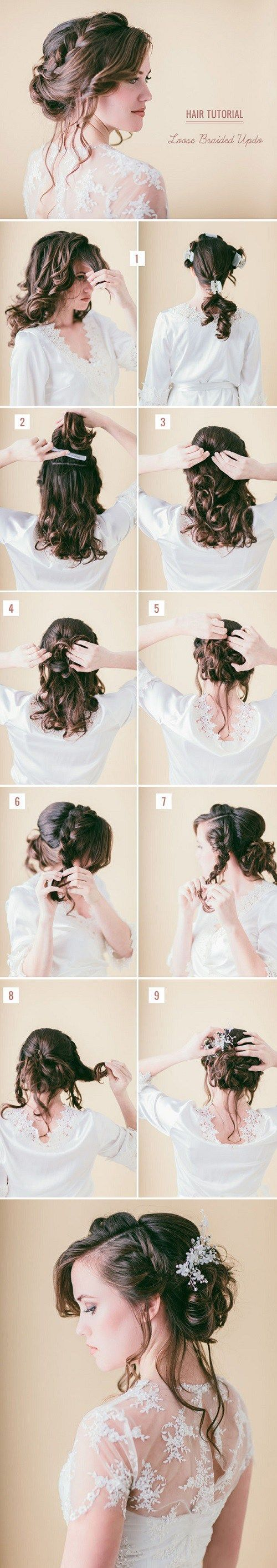 Curly Updo Tutorial For Long Hair