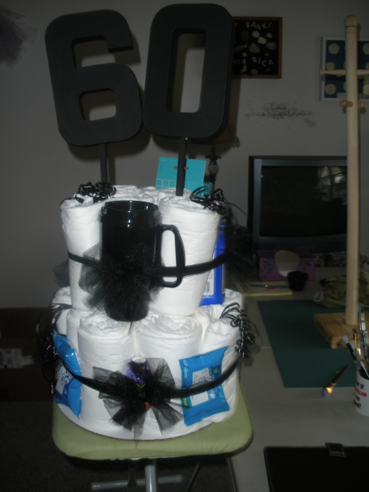 And of course, a 60th birthday Depends cake.