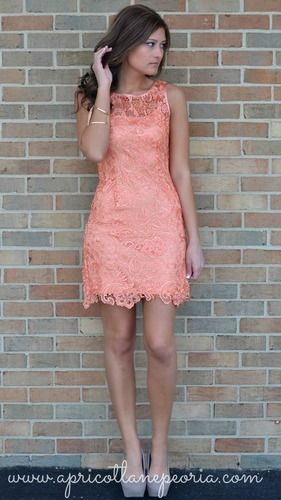 I personally have this dress in Royal Blue from Apricot Lane, and I think it's gorgeous in this coral as well. Super flattering, and would make a perfect Springtime or Summer Bridesmaids dress in this color - also a dress the girls could wear to numerous other social occasions! Black for cooler-weather weddings :) LOVE IT.