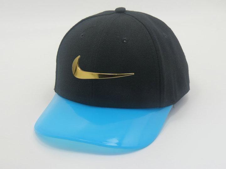 43178ee06da Men s Nike Jumbo Gold Metal Heritage Swoosh Logo Transparent Plastic Visor…