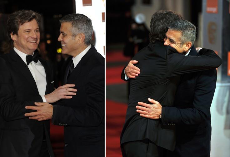 Colin Firth & George Clooney - 2012 BAFTA Awards, February 12th 2012